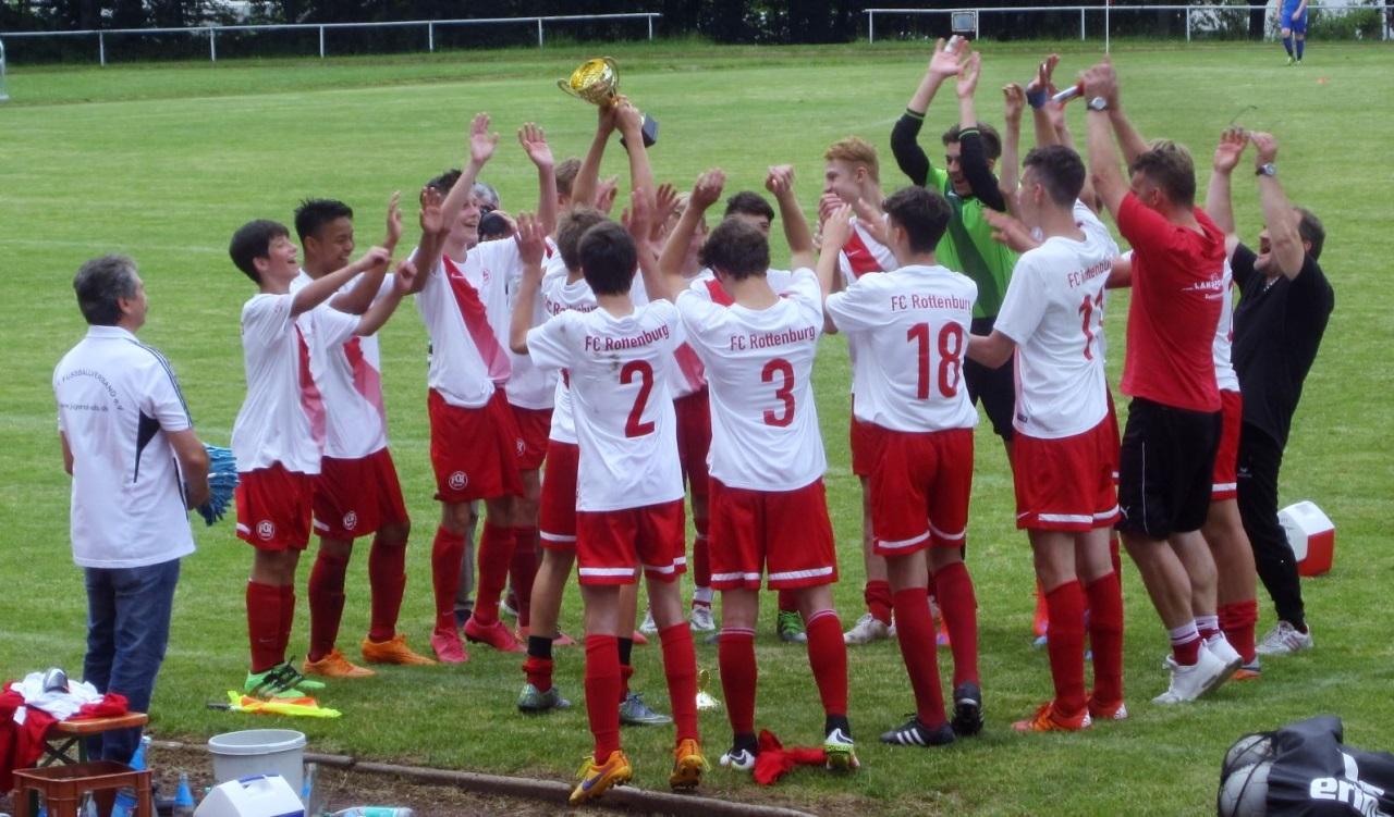 FCR U15 - Pokalübergabe 2016
