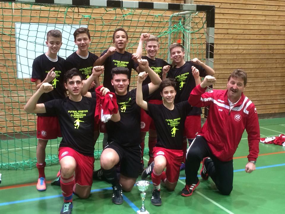 Futsal Master 2013 C-Junioren FC Rottenburg mit Cheftrainer Dietmar Weber
