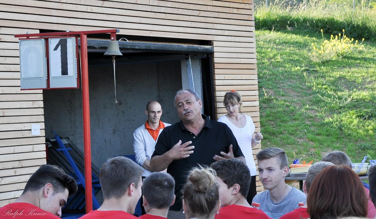 Ansprache durch den 1.Vorsitzenden Martin Haug bei der Meisterfeier der C-Junioren