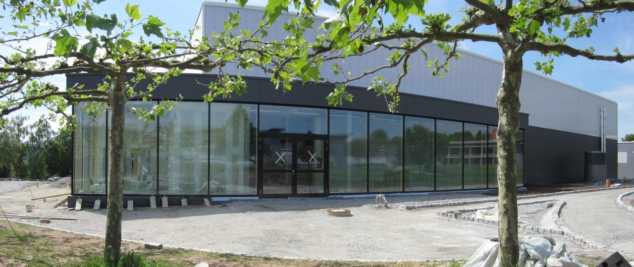 Eingang zur Geschäftsstelle des FC Rottenburg