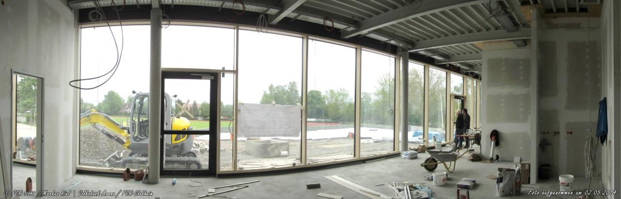 FCR-Clubheim - Blick von der Halle her
