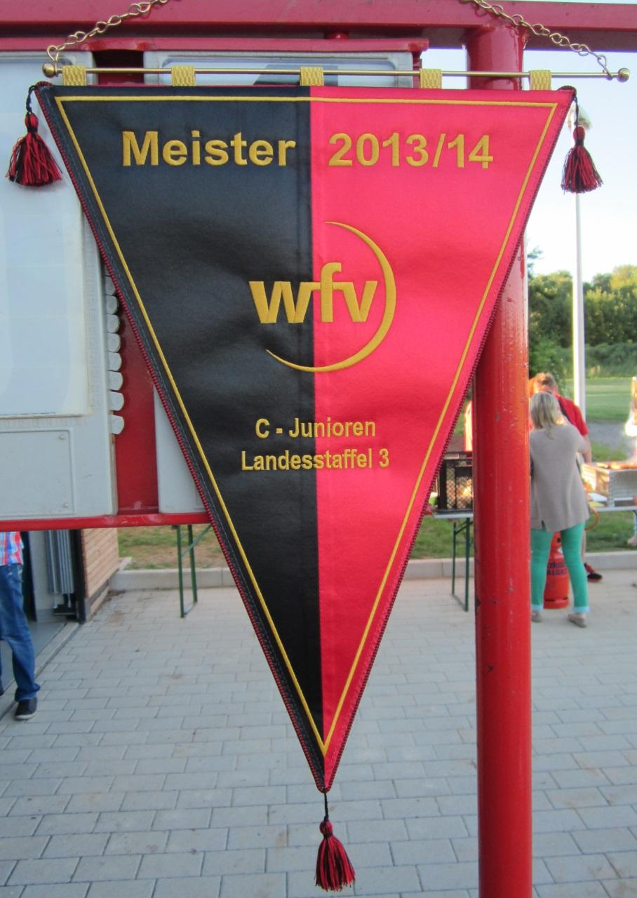 WFV-Meisterwimpel der Saison 2013/2014