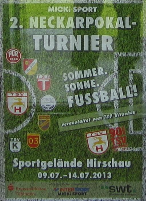 Plakat Micki Sport 2.Neckarpokal-Turnier