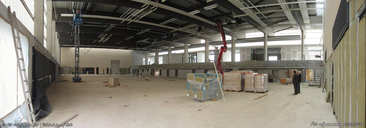 Volksbank Arena- Blick vom Lieferanteneingang