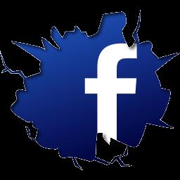 Facebook Logo hinter einer Wand
