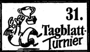 31.TAGBLATT-Turnier Logo