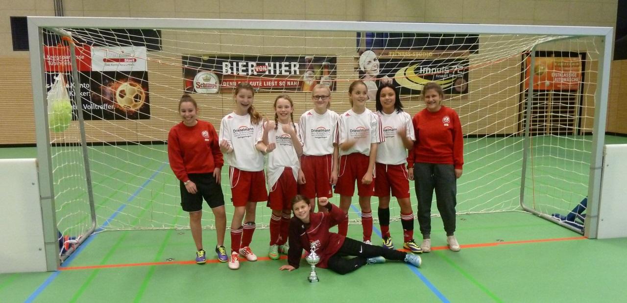 Hervorragender 2. Platz belegten die D-Juniorinnen des FC Rottenburg