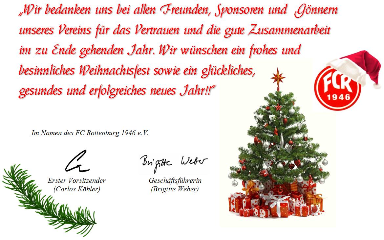 der fc rottenburg 1946 e v w nscht allen ein gesegnetes weihnachtsfest fc rottenburg 1946 e v