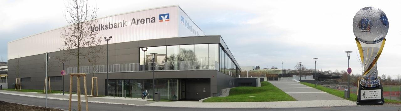 Volksbank Arena Rottenburg mit Pokal