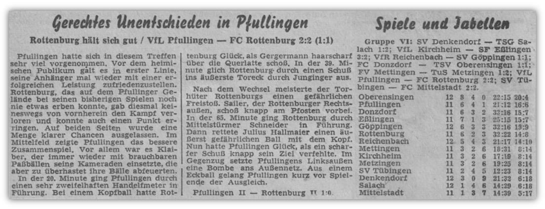 1955.11.06_Gerechtes Unentschieden in Pfullingen