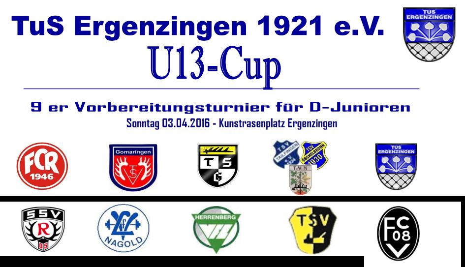 Logo Ü13-Turnier Ergenzingen 03.04.2016