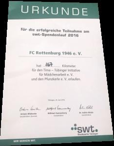 Urkunde swt-Spendenlauf 2016